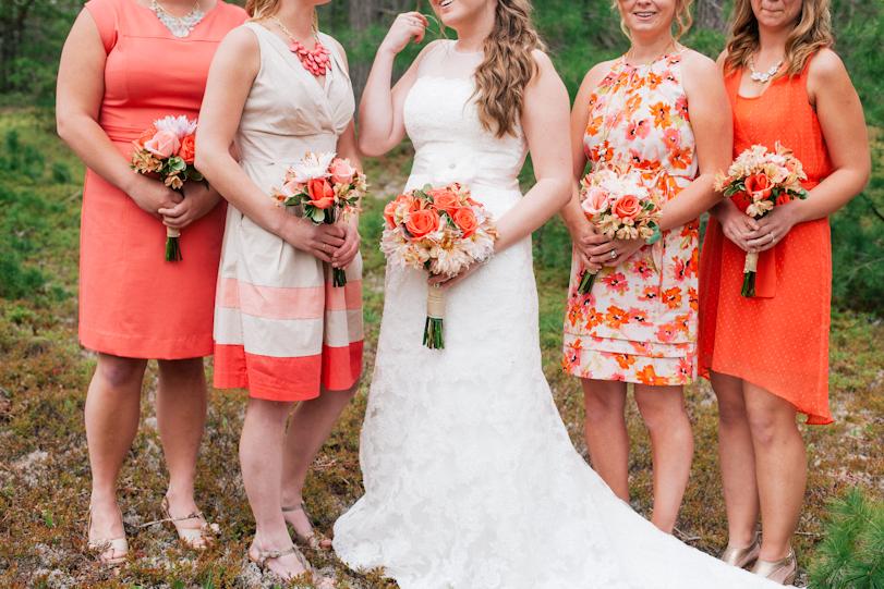 Coral Bridesmaids Dresses