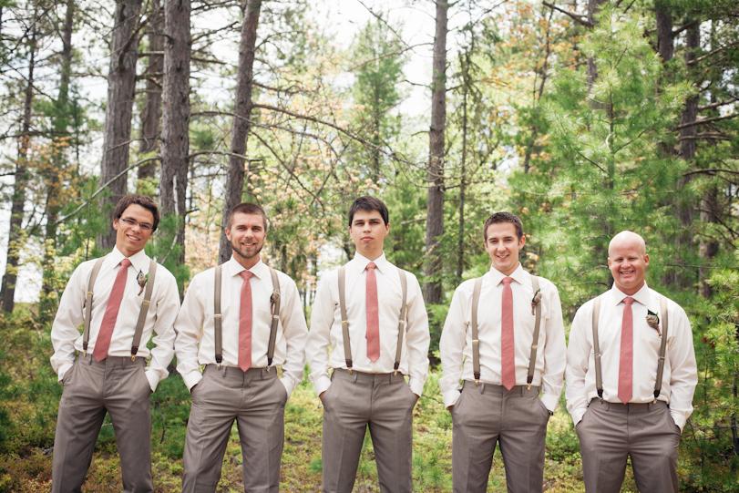 Groomsmen in the woods