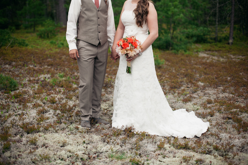 Portrait of Bride and Groom in the forest